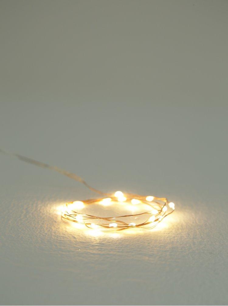 LED svítící řetěz v měděné barvě s časovačem Kaemingk