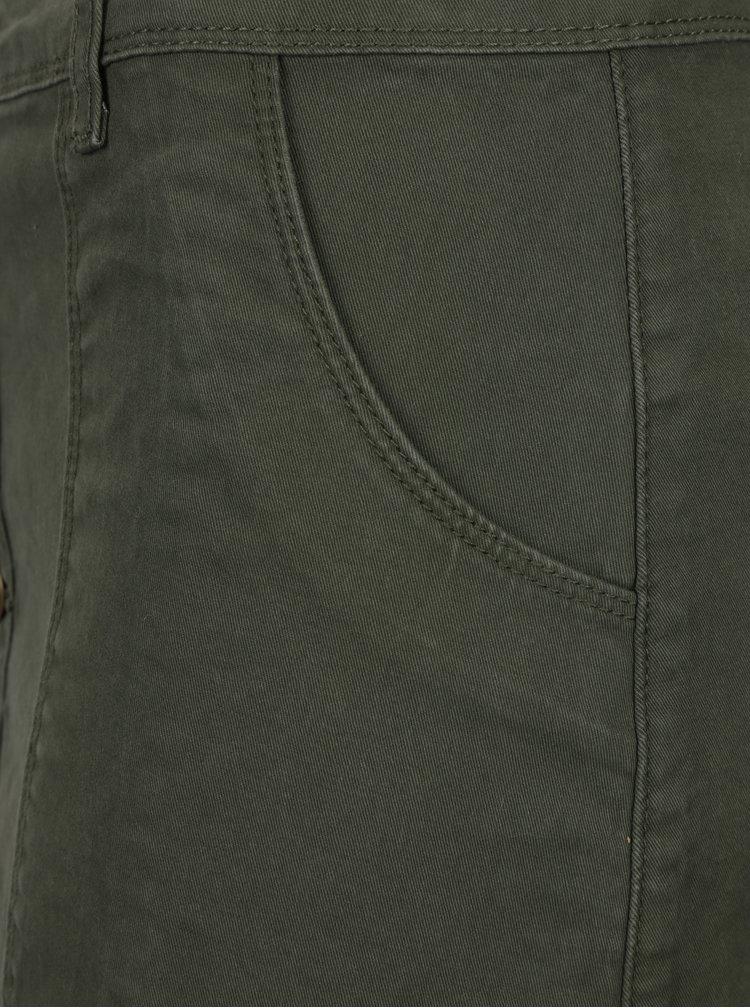 Tmavě zelená sukně s knoflíky Brakeburn