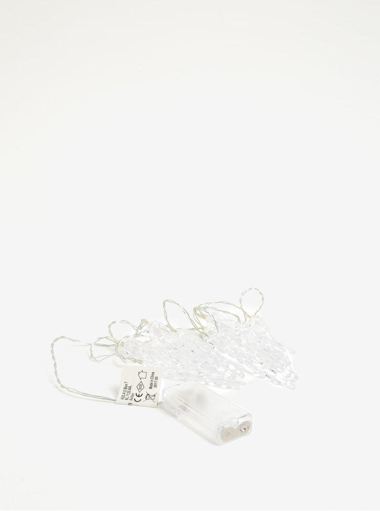 Bílý LED světelný řetěz s rampouchy Kaemingk