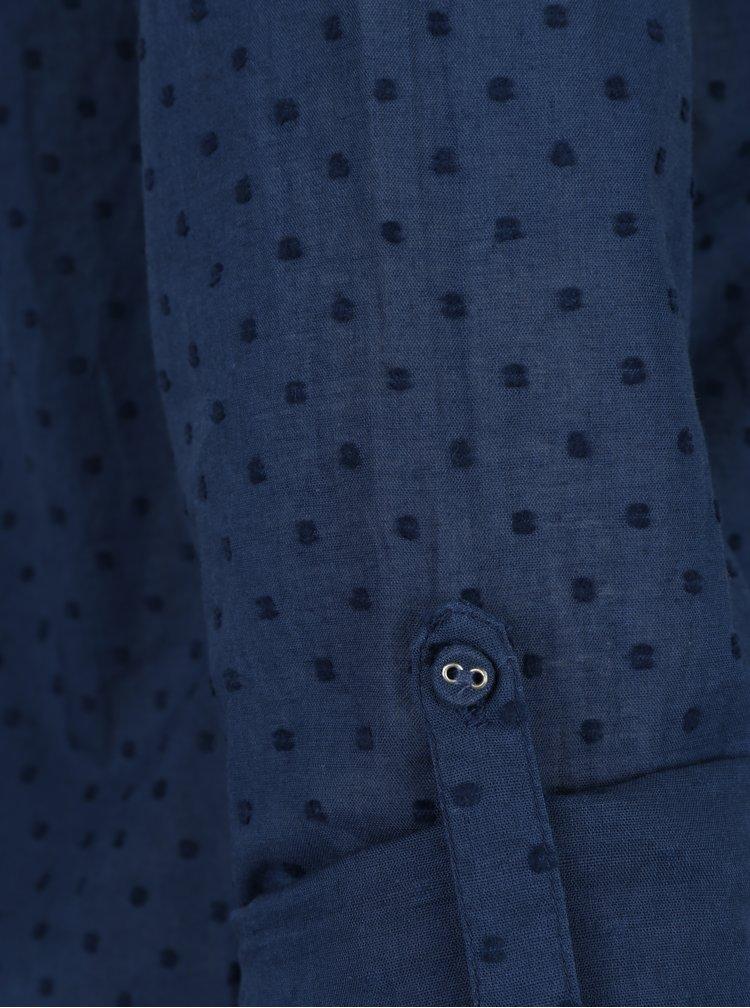 Tmavě modrá vzorovaná halenka Brakeburn