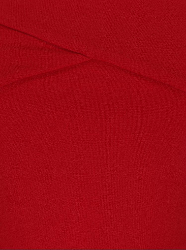 Červené maxišaty s rozparkem AX Paris