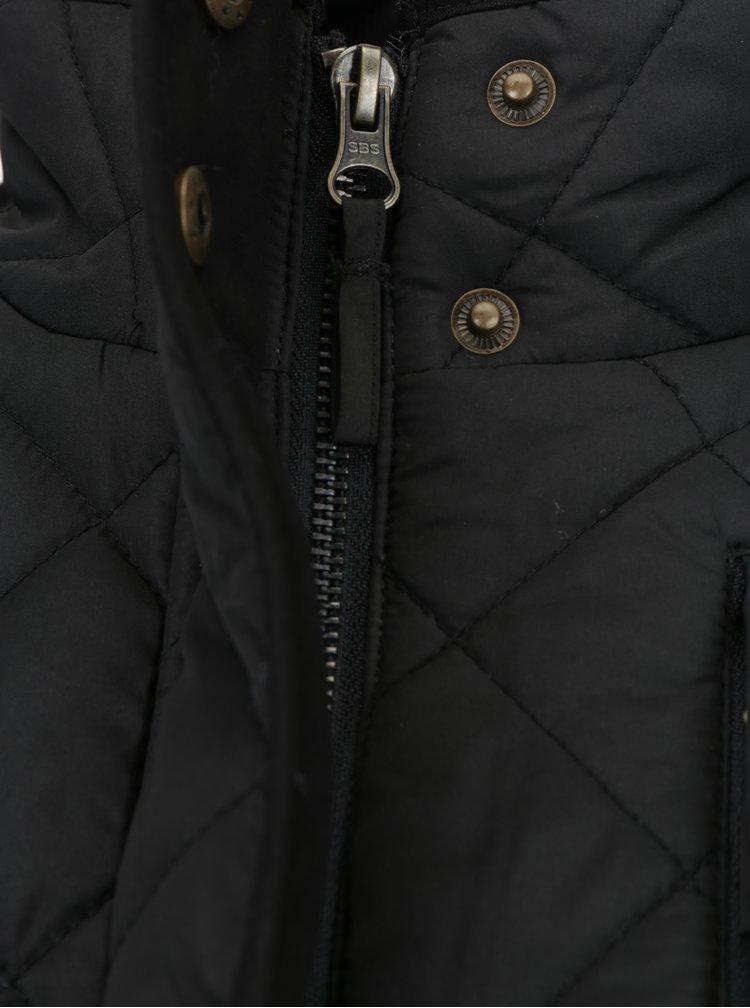 Černá prošívaná bunda Brakeburn