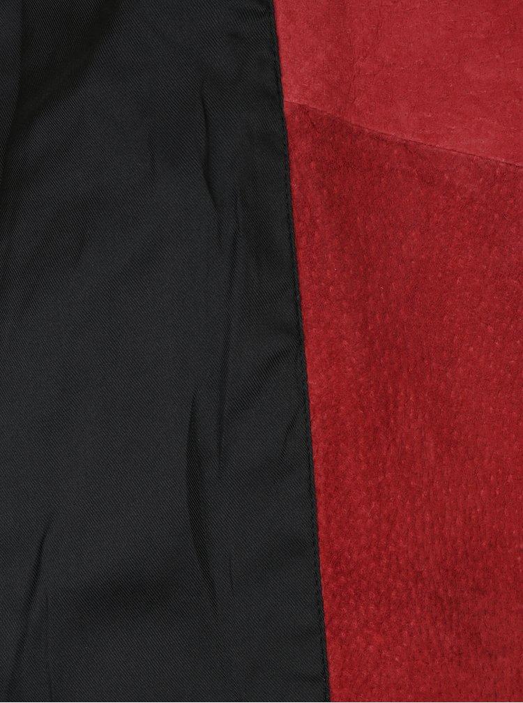 Červený semišový křivák s páskem Selected Femme Sanella