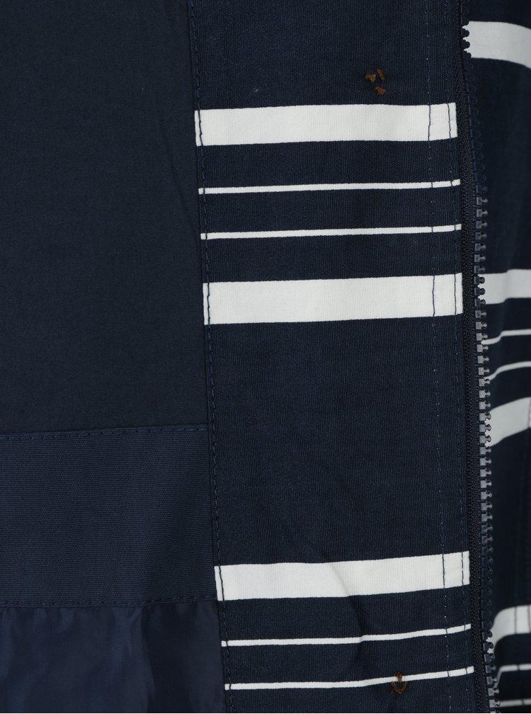 Geaca bleumarin & alb lunga cu print impermeabila - Brakeburn