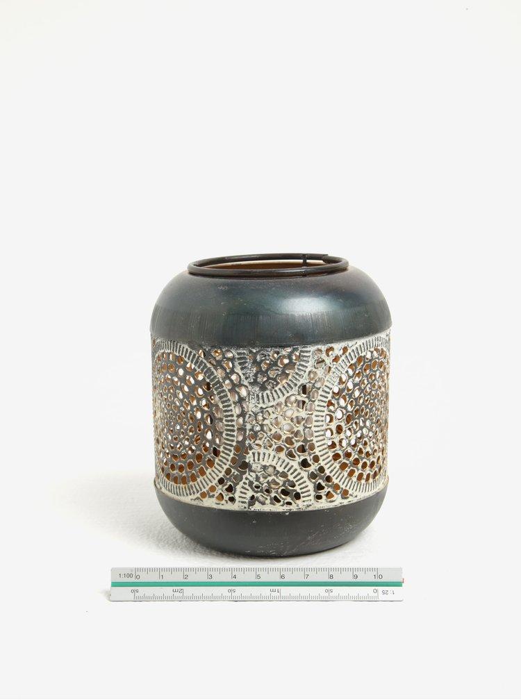 Suport de lumanare gri&bronz - Kaemingk
