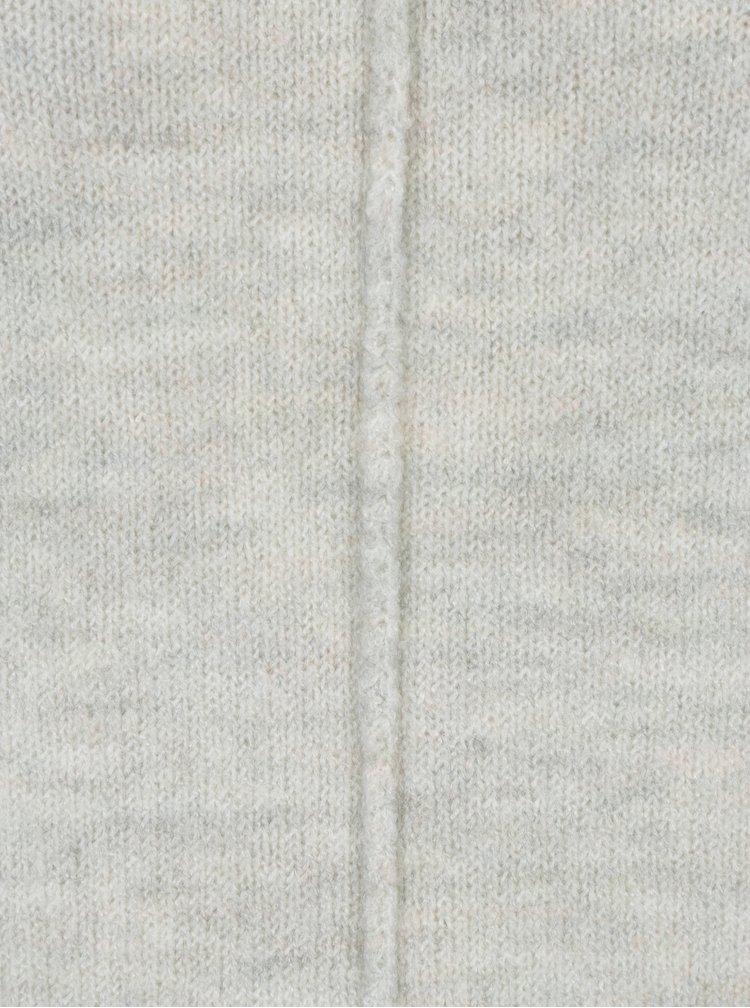 Šedý dámský žíhaný svetr se stojáčkem s.Oliver