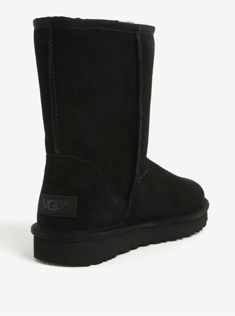 Cizme negre impermeabile din piele - UGG Classic Short II