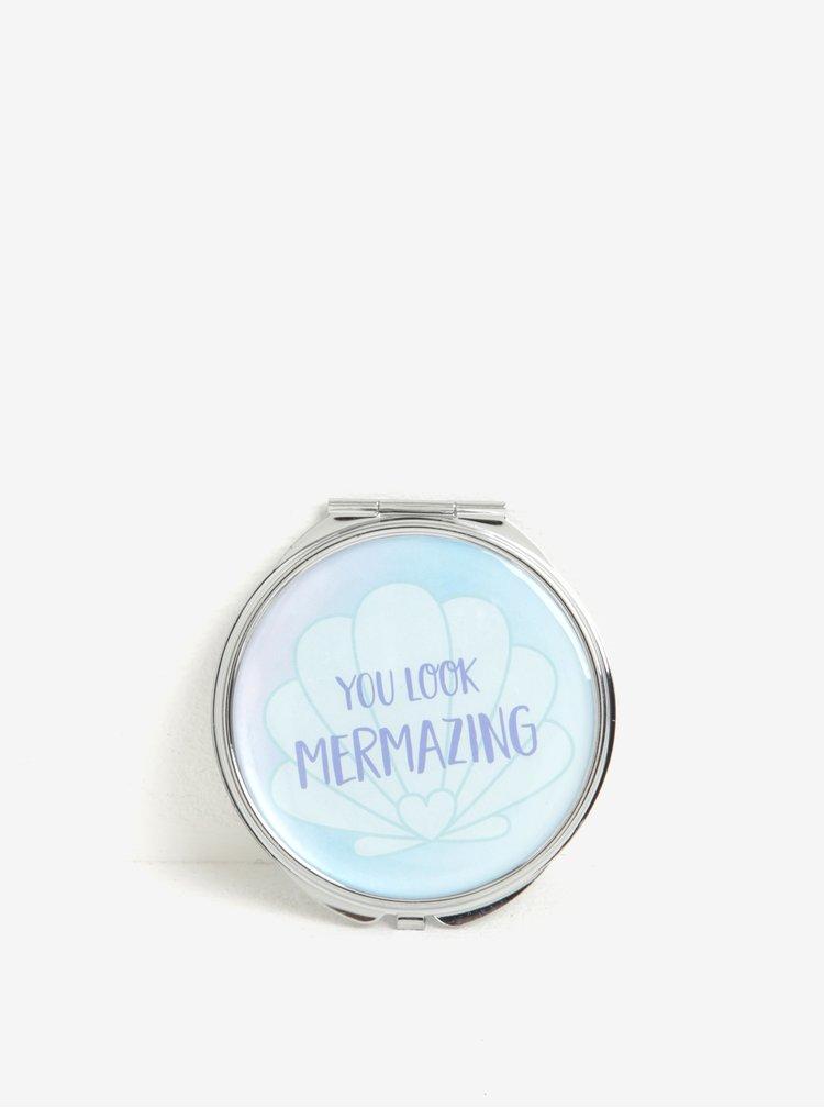 Světle modré kompaktní zrcátko Sass & Belle Mermaid Treasures