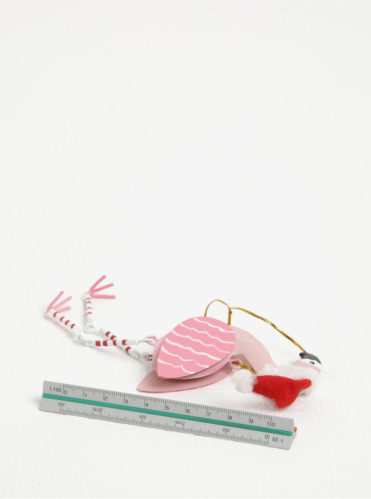 Decoratiune sub forma de flamingo - Sass & Belle Festive Flamingo