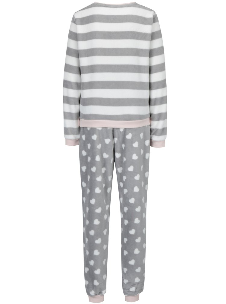 Růžovo-šedé pyžamo Dorothy Perkins