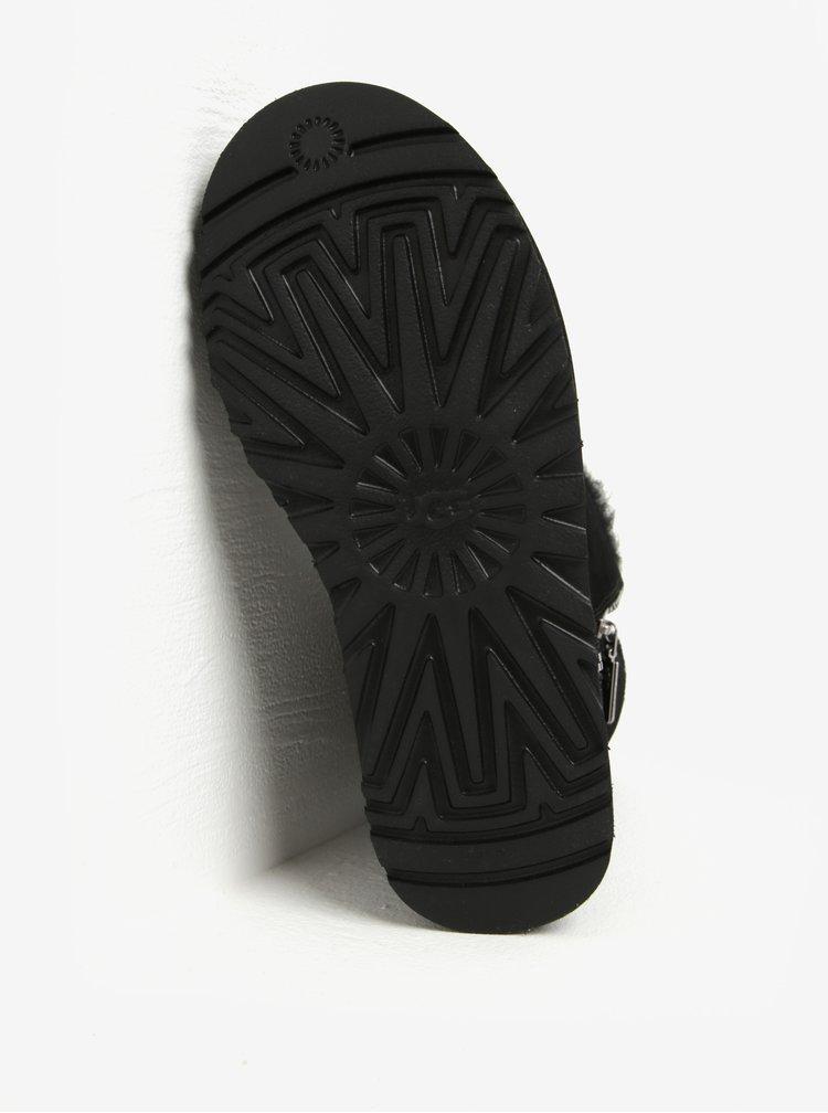 Cizme negre impermeabile din piele cu fermoar - UGG Marice