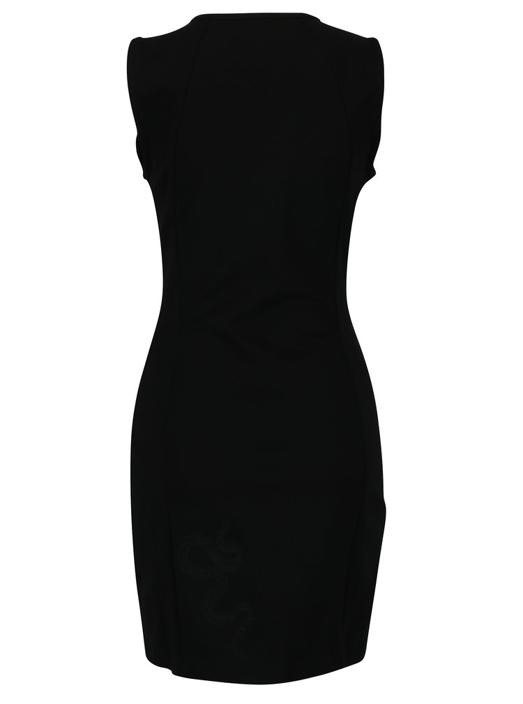 Černé šaty se zvířecím vzorem Desigual Santorini
