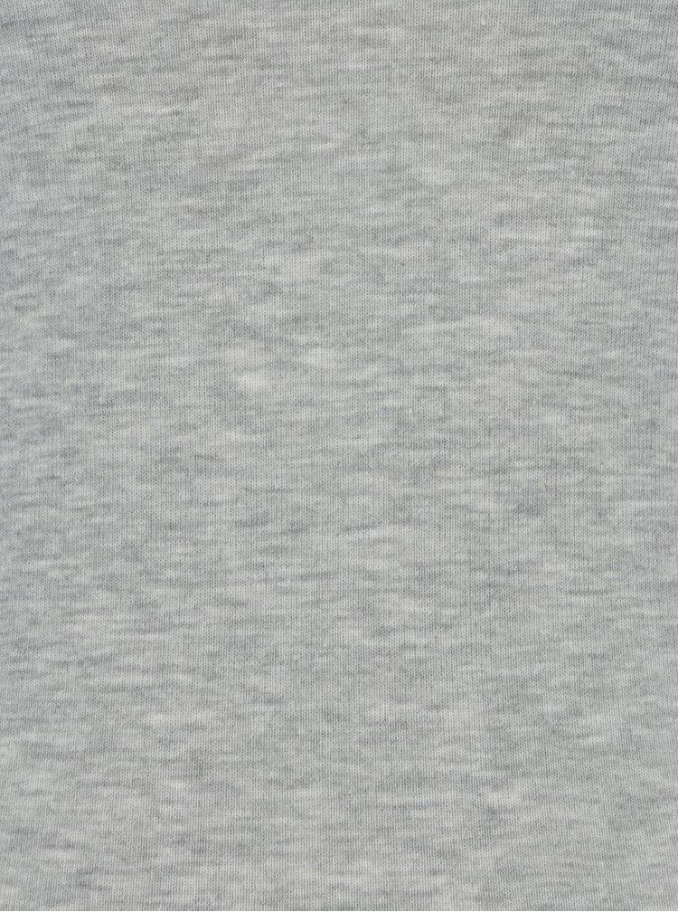 Světle šedé dlouhé žíhané basic tričko Dorothy Perkins