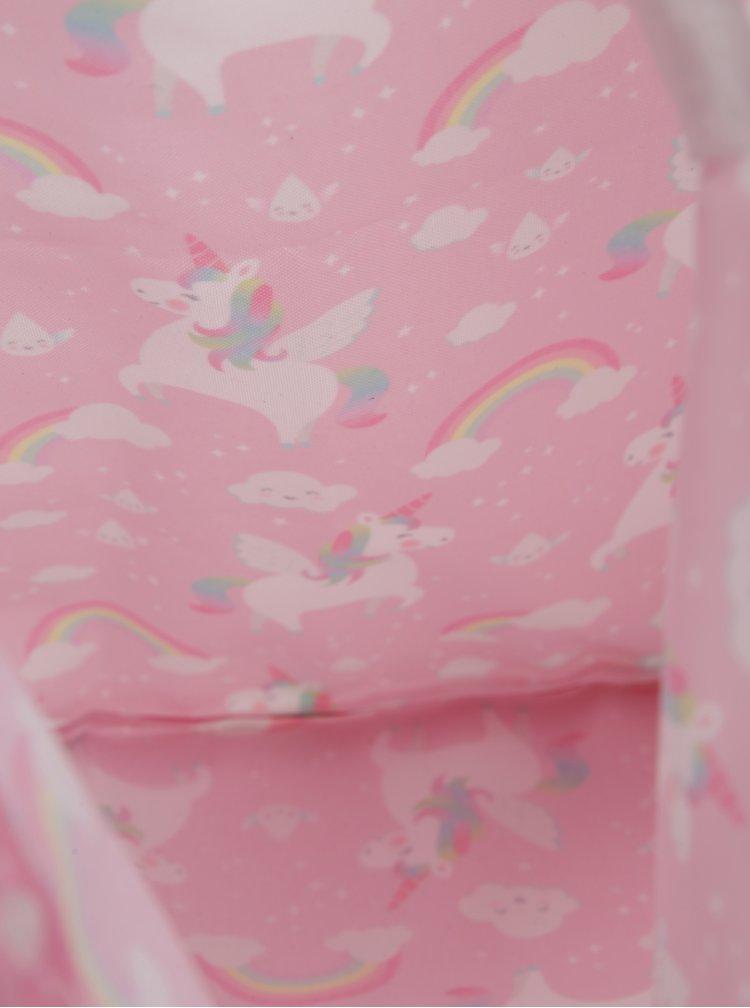 Růžový holčičí vak s motivem jednorožců Sass & Belle Rainbow Unicorn