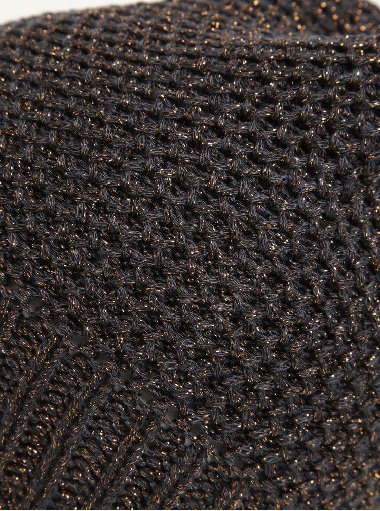 Caciula gri & bronz cu aspect stralucitor - ONLY Abigail