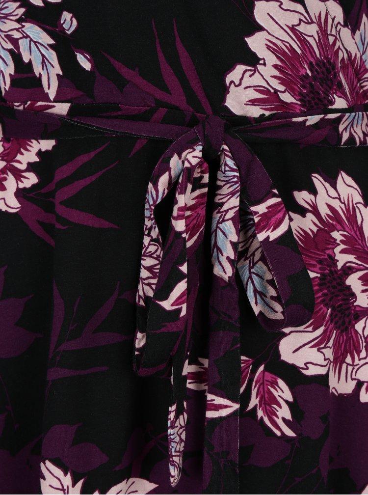 Rochie violet & negru cu decolteu suprapus Dorothy Perkins