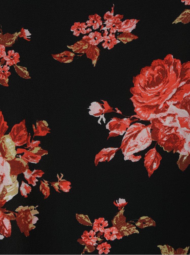 Černá květovaná halenka Dorothy Perkins Curve