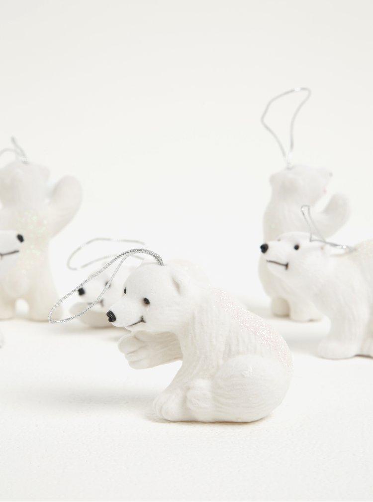 Set de 6 figurine ursuleti polari din ceramica - Kaemingk