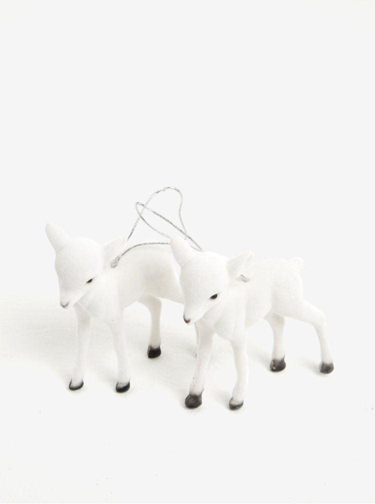 Set de 2 piese decorative albe in forma de miel - Kaemingk