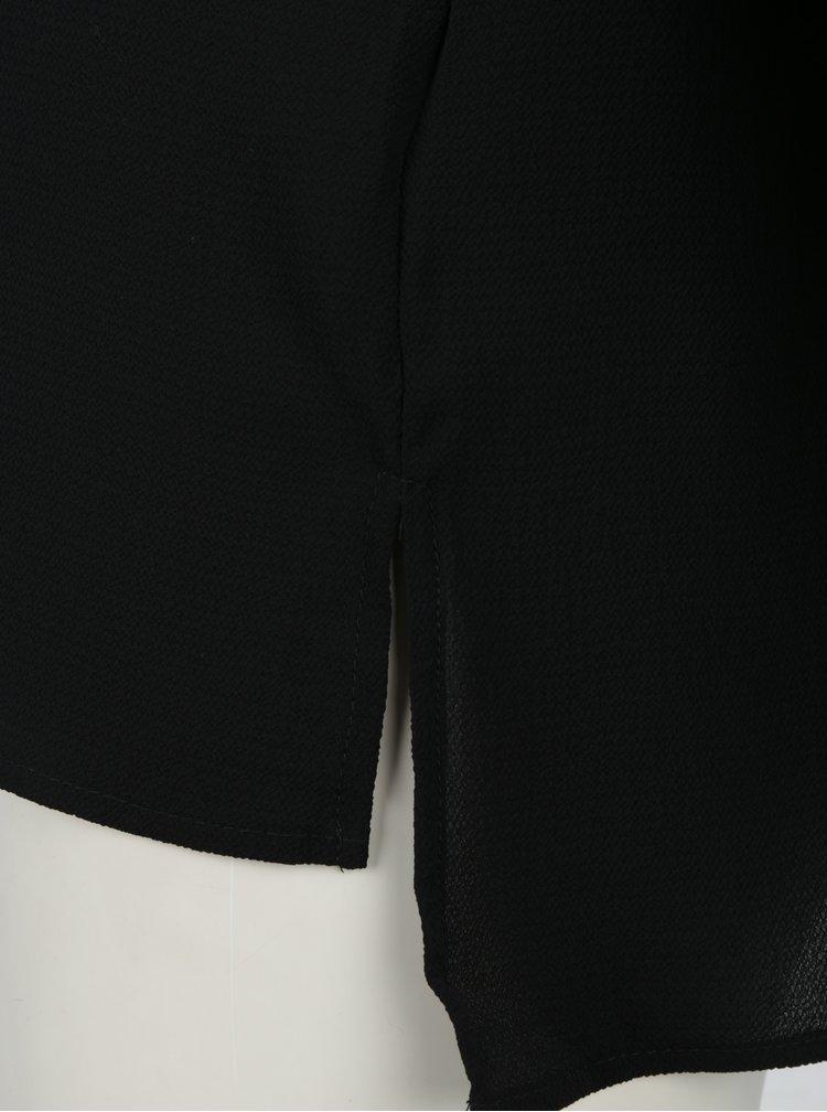 Černá halenka s 3/4 rukávem VERO MODA Sasha