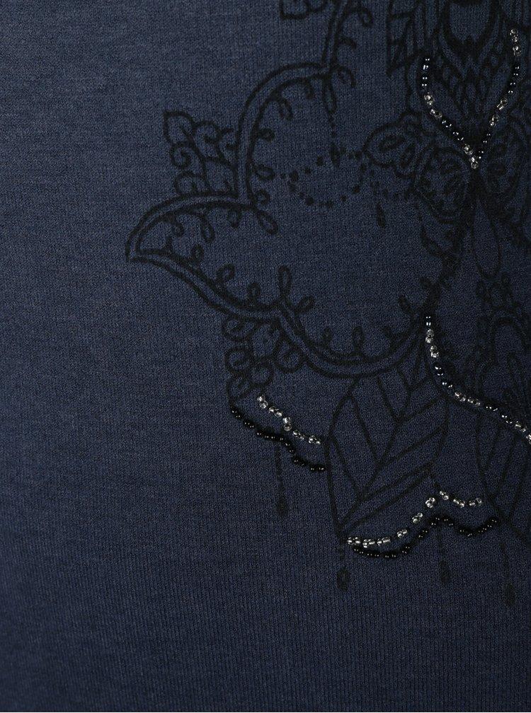 Tmavě modré svetrové šaty s ombré efektem Desigual Málaga