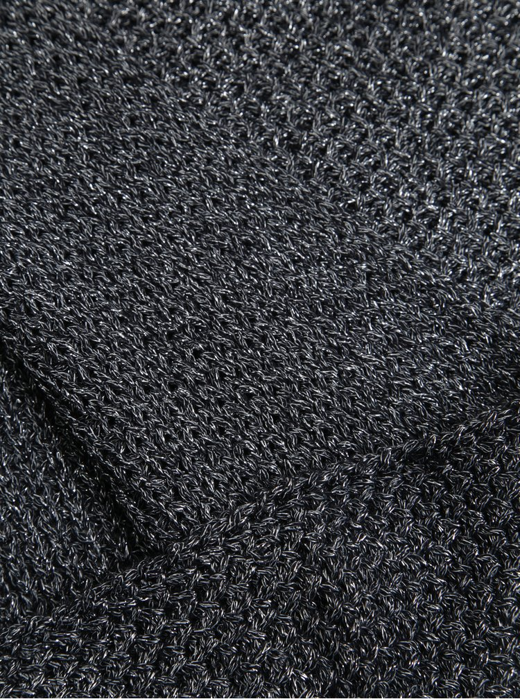 Tmavě modrá dutá šála s třpytivým efektem ONLY Abigail