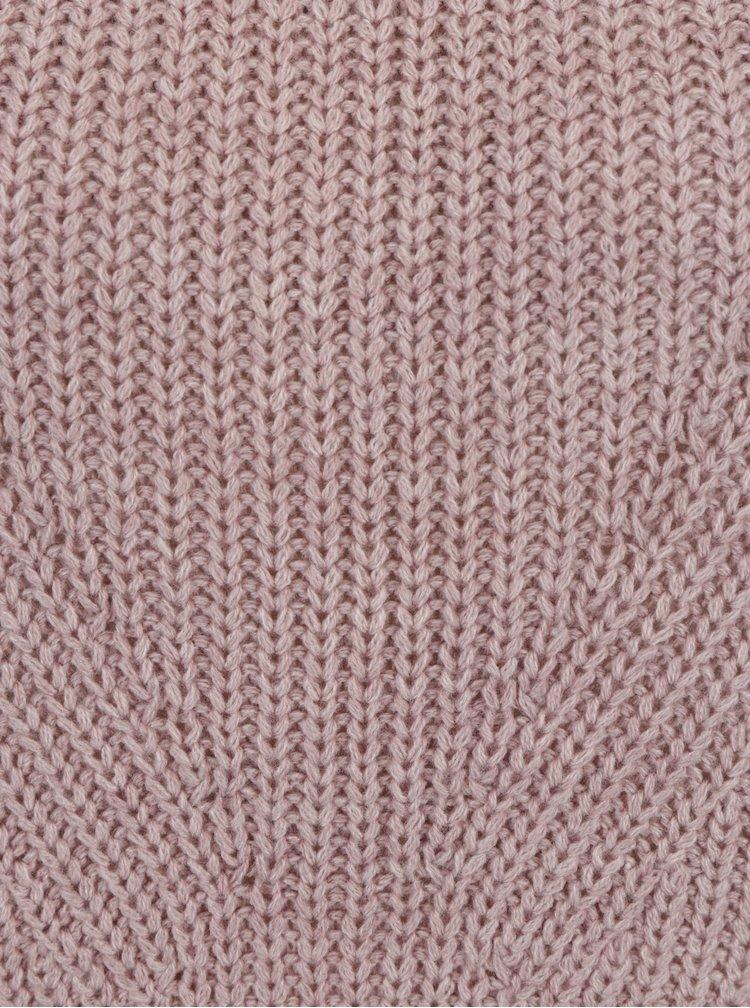 Pulover roz - prafuit cu guler inalt - Jacqueline de Yong