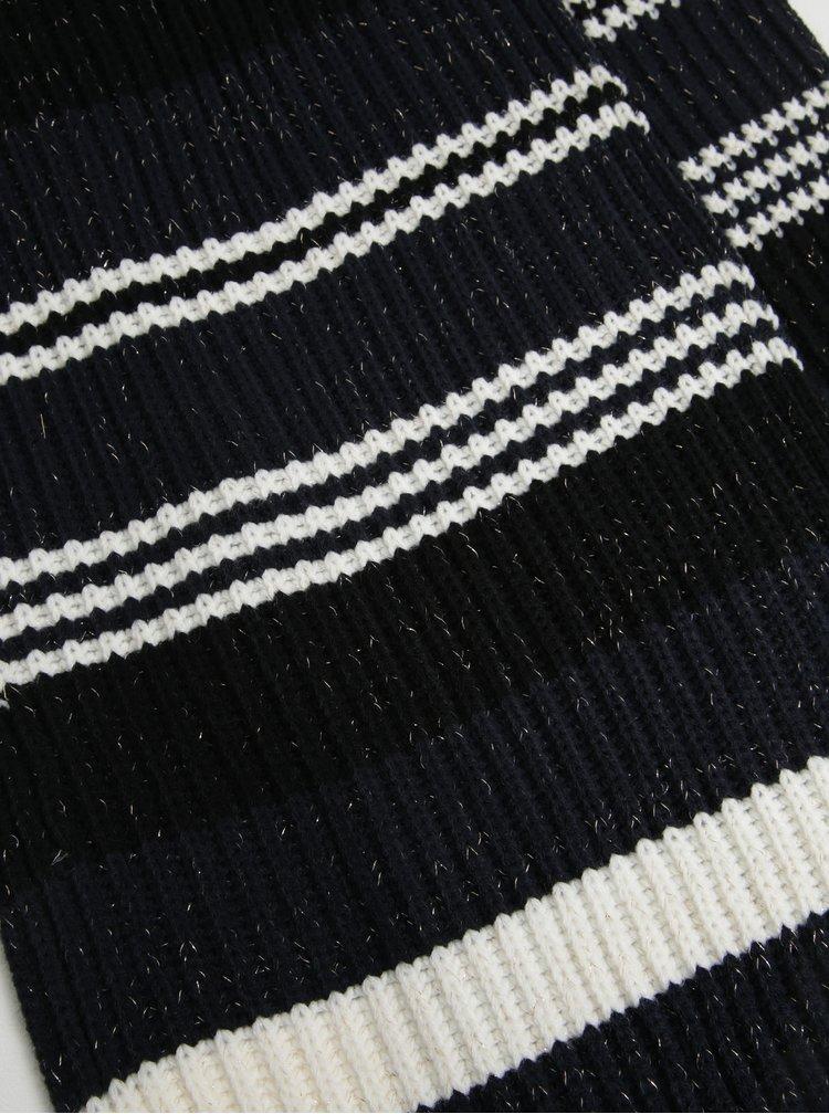 Modro-černá pruhovaná šála ONLY Annica