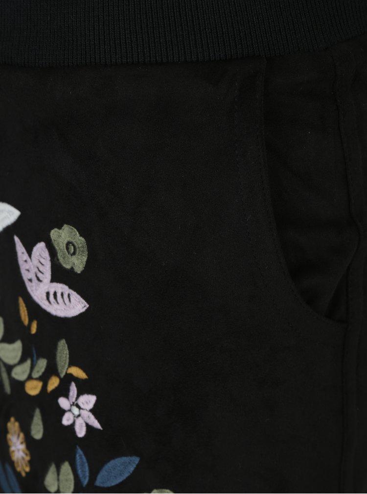 Černá minisukně v sametové úpravě Desigual Ariadna