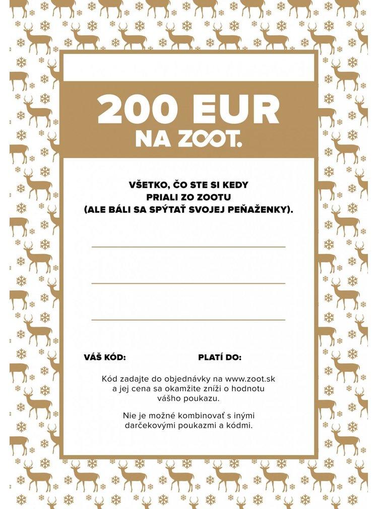 Elektronický poukaz zo ZOOTu v hodnote 200 €