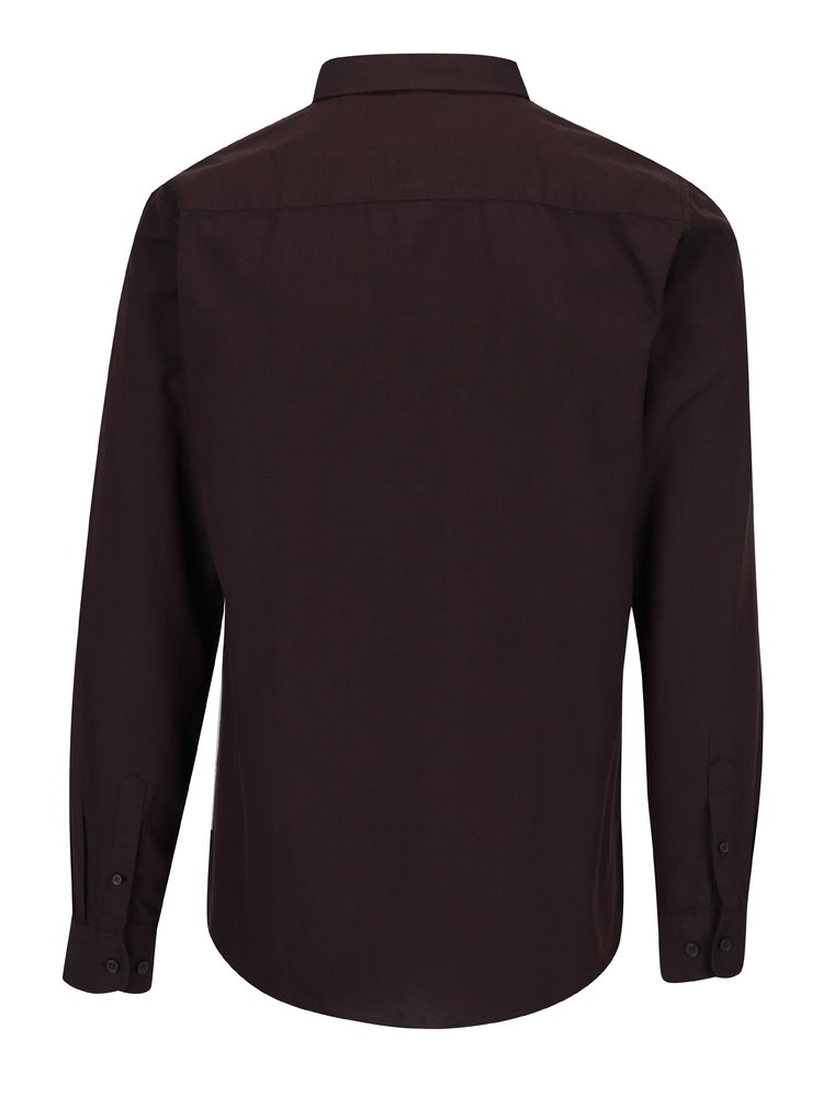 Vínová slim fit košile ONLY & SONS Alvaro