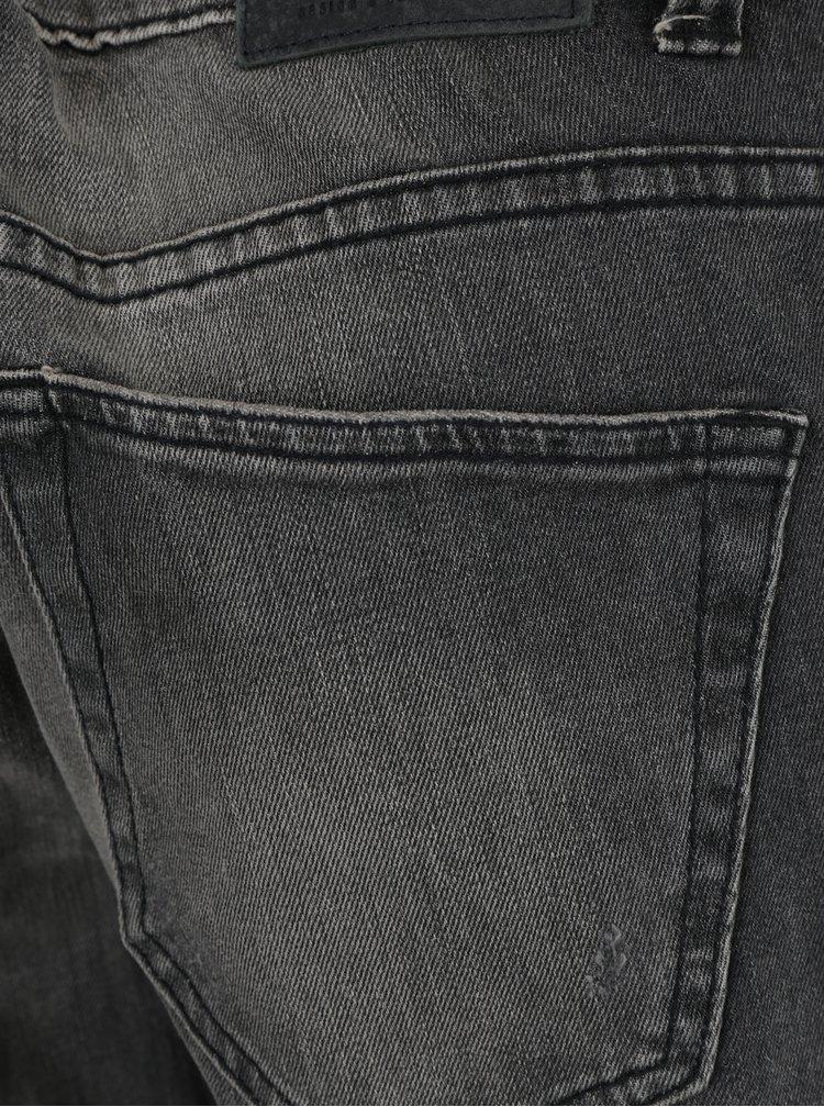 Šedé slim fit džíny s potrhaným efektem ONLY & SONS Loom
