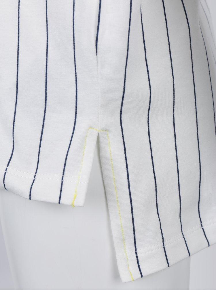 Krémové klučičí pruhované tričko s náprsní kapsou name it Silas