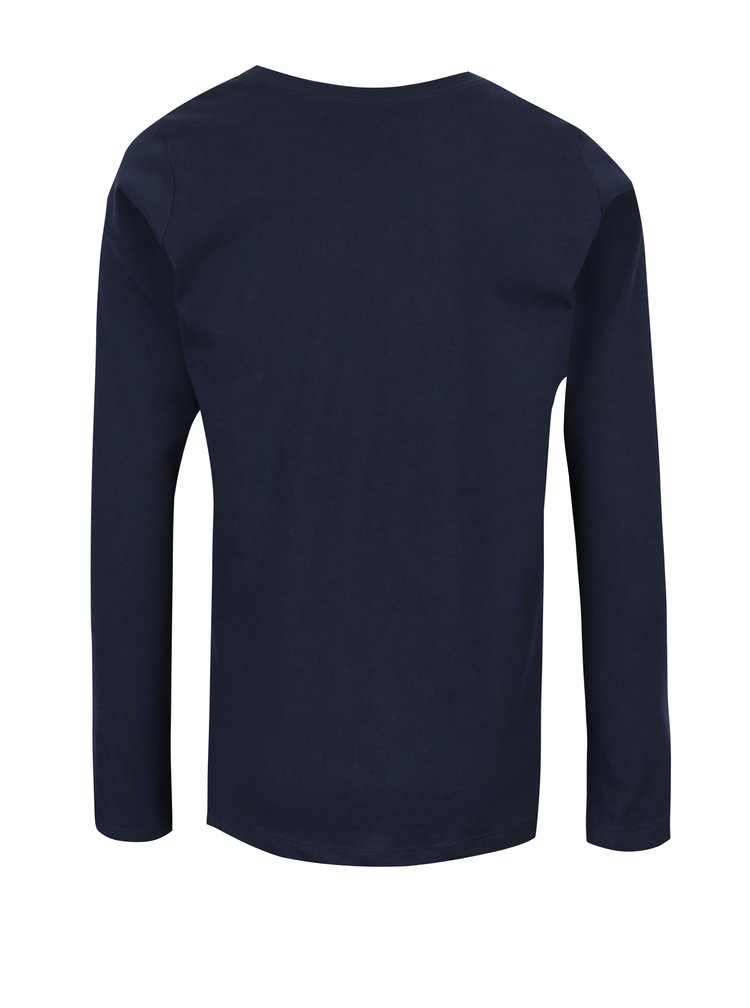 Tmavě modré klučičí tričko s potiskem name it Victor