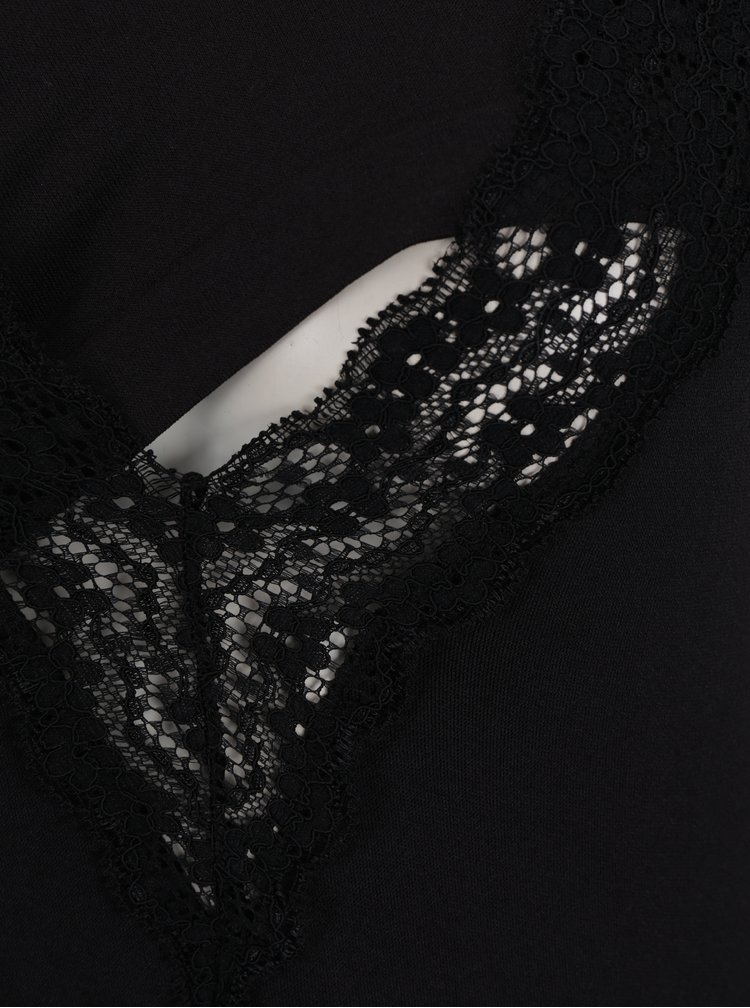Černý těhotenský/kojicí top s krajkovými detaily Mama.licious Heal