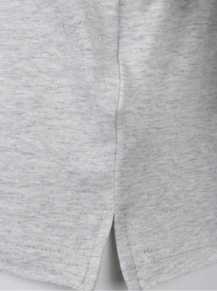 Světle šedé holčičí tričko s flitry name it Sivat