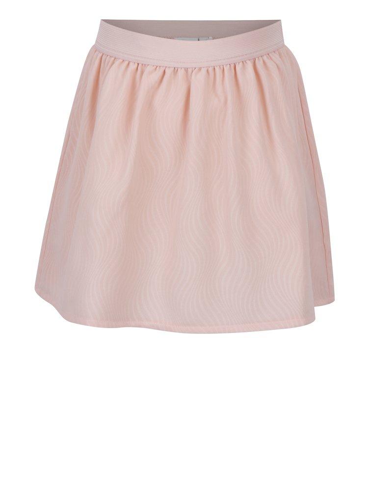 Světle růžová holčičí vzorovaná sukně name it Ibby