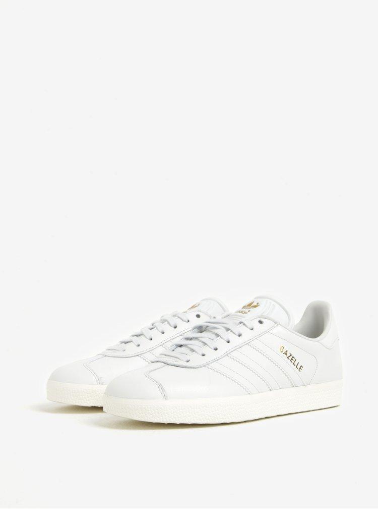 Pantofi sport albi pentru femei - adidas Originals Gazelle