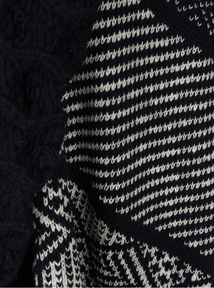 Tmavě modrý kardigan s příměsí vlny z alpaky Desigual Menta