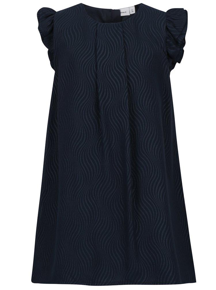 Tmavě modré holčičí vzorované šaty name it Ibby