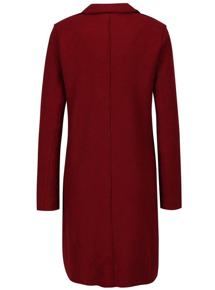 Červený kabát s příměsí vlny ONLY New Ella