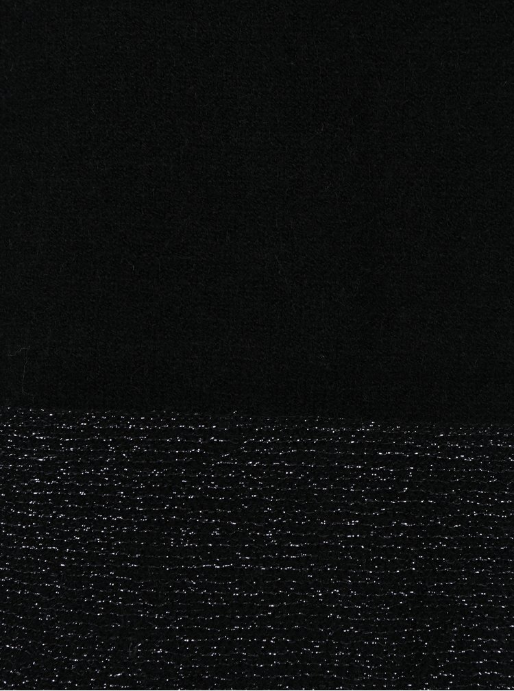 Rochie - pulover negru cu terminatii cu aspect stralucitor - ONLY Lily