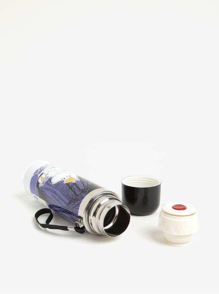 Černá termoska s Mumínky Disaster Moomin Cave
