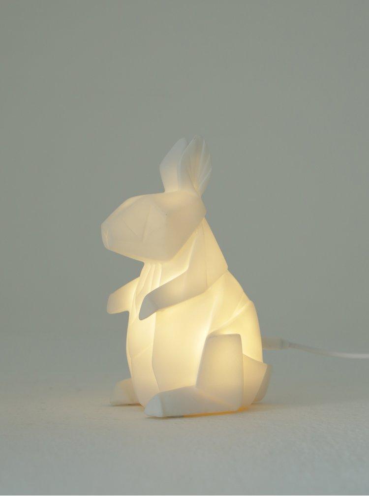 Lampa LED alba in forma de iepuras - Disaster Rabbit