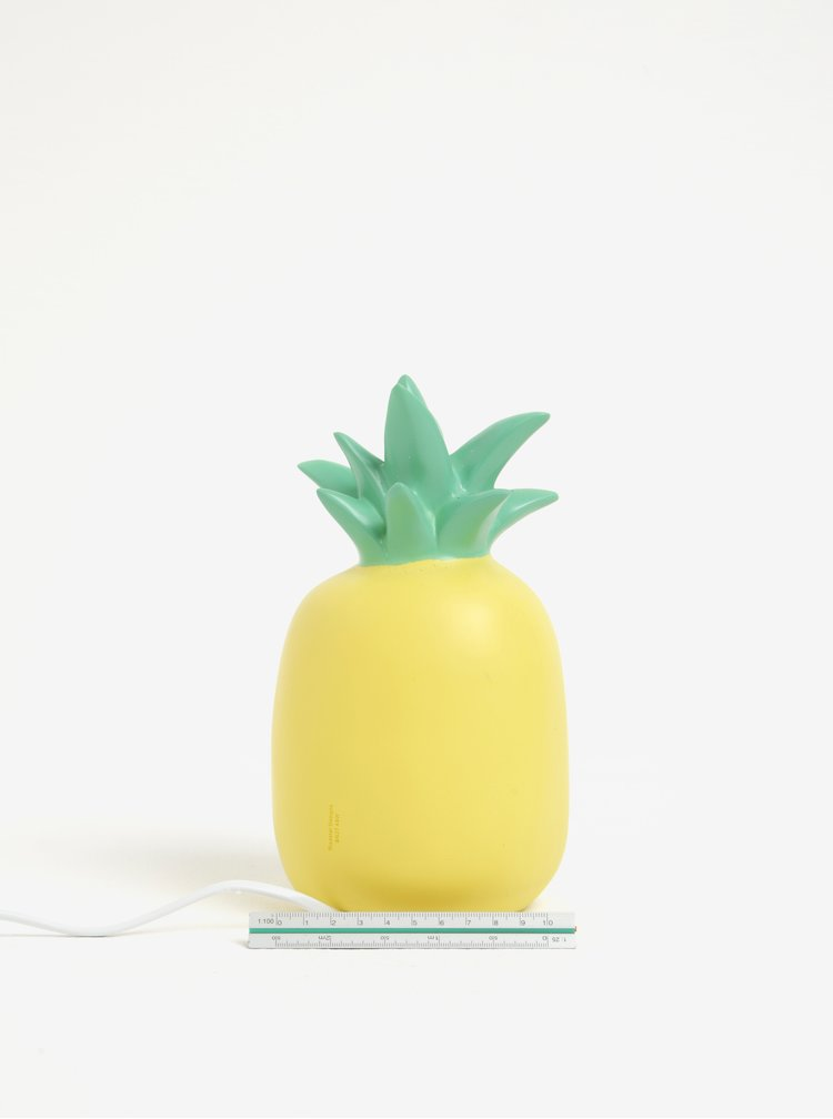 Lampa LED verde & galben in forma de ananas - Disaster Pineapple