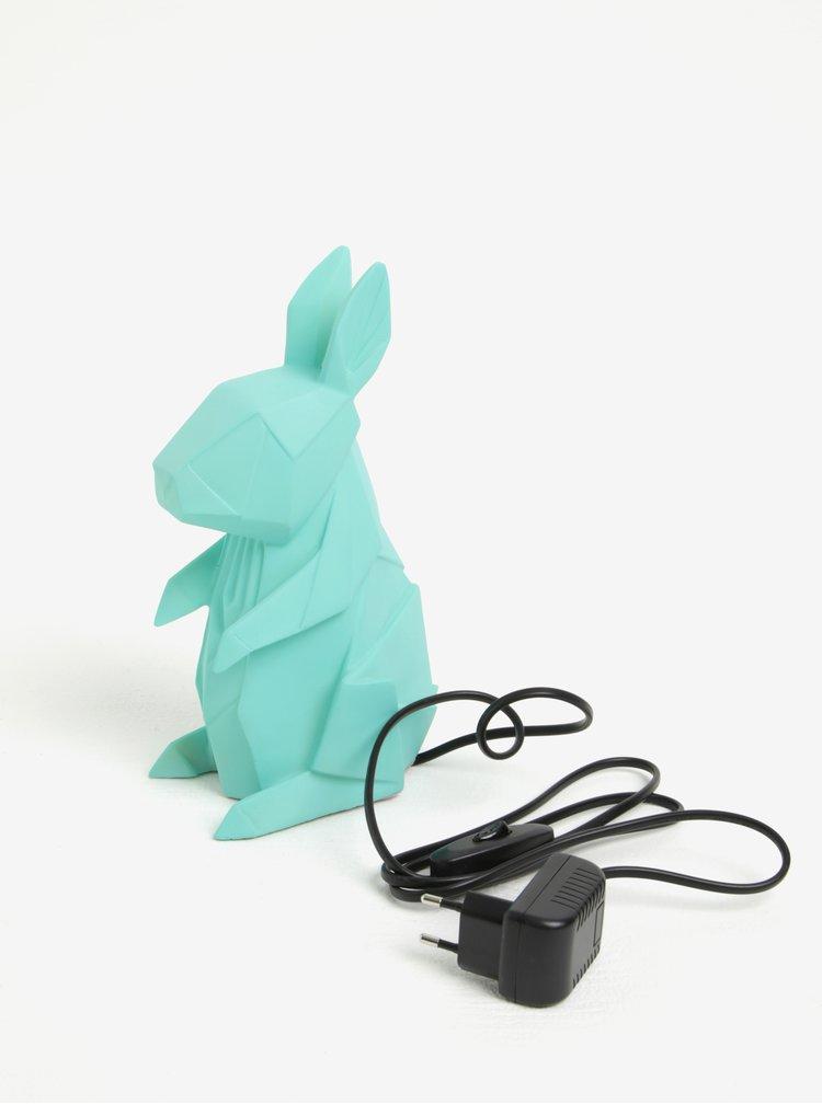 Tyrkysová lampa ve tvaru králíka Disaster Rabbit