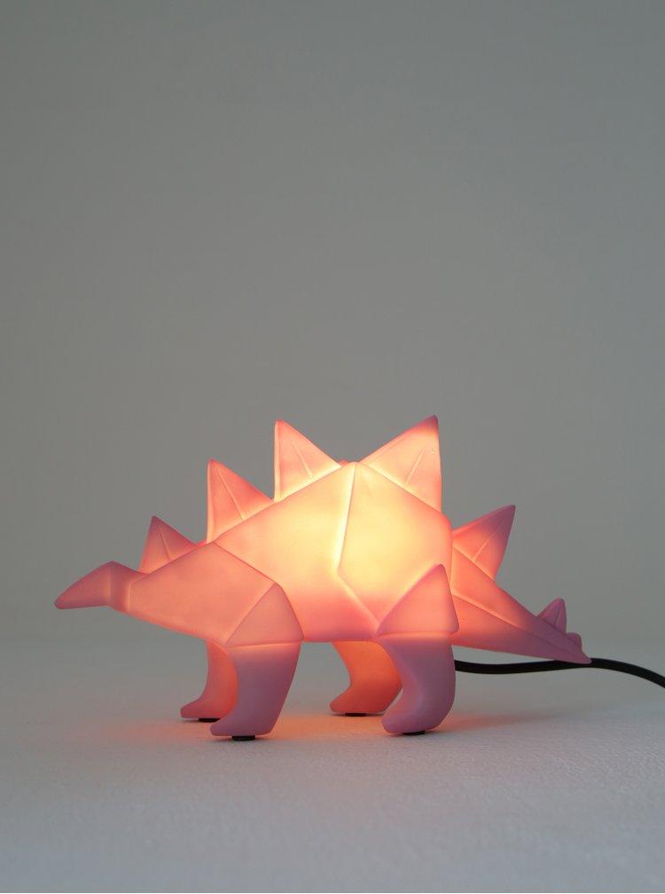 Růžová lampa ve tvaru dinosaura Disaster Dinosaur