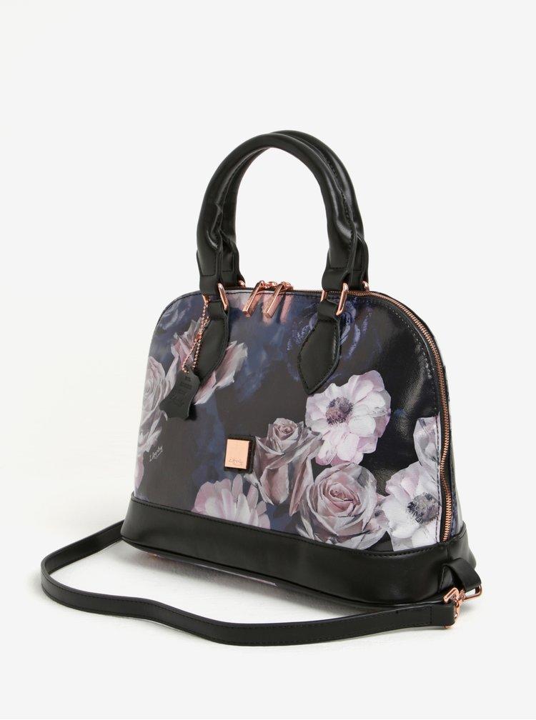 Černá květovaná kabelka do ruky Liberty by Gionni Fleur