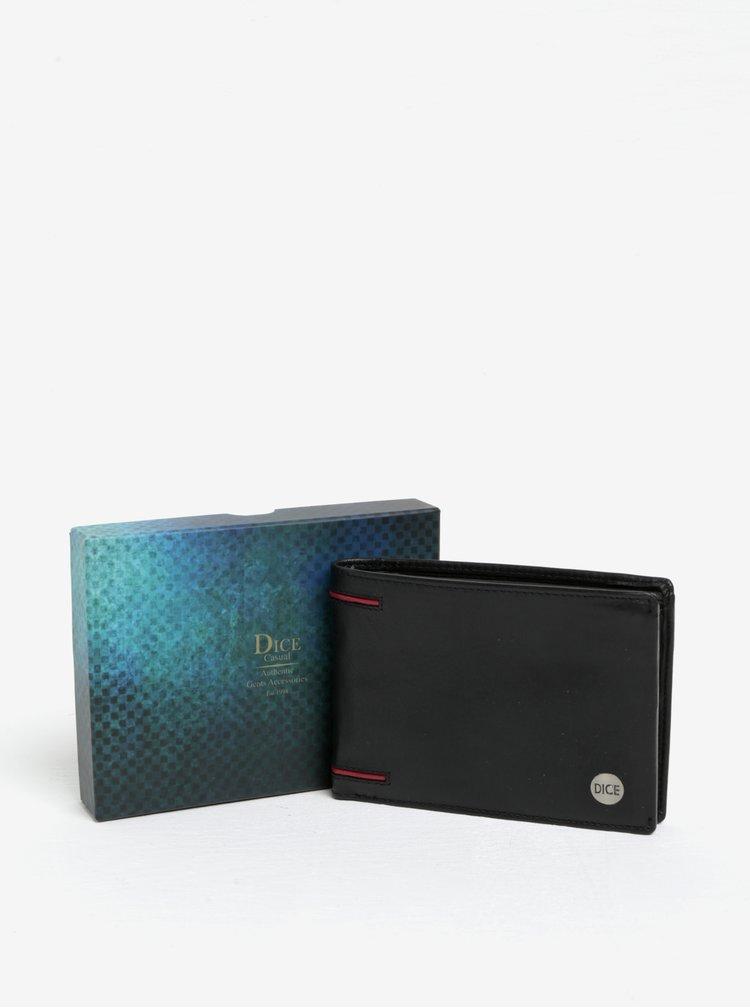 Černá kožená peněženka Dice Driver Licence