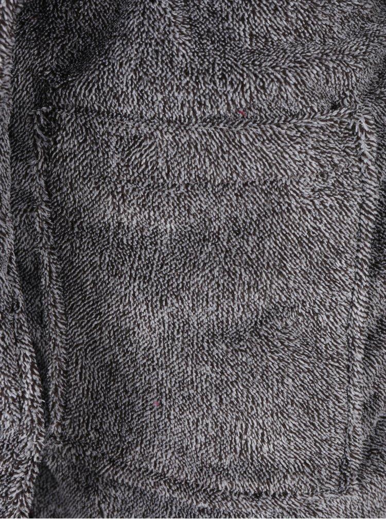 Halat de casa gri melanj&negru pentru barbati Portland